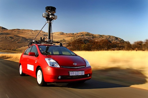 Toyota affixed with Google Street View camera