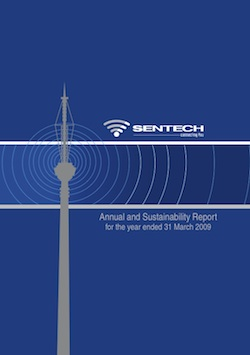 Cover of Sentech's 2009 annual report