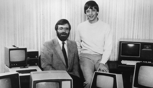 Paul Allen and Bill Gates, seen together in 1981
