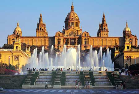 Montjuic Palace in Barcelona
