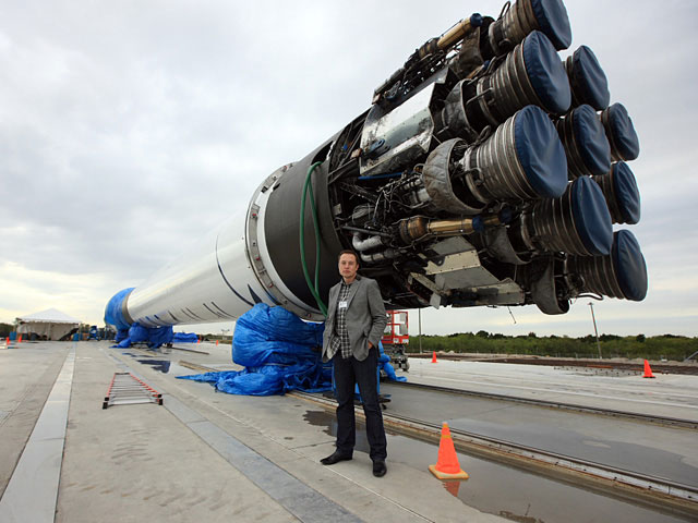 Elon Musk at Cape Canaveral