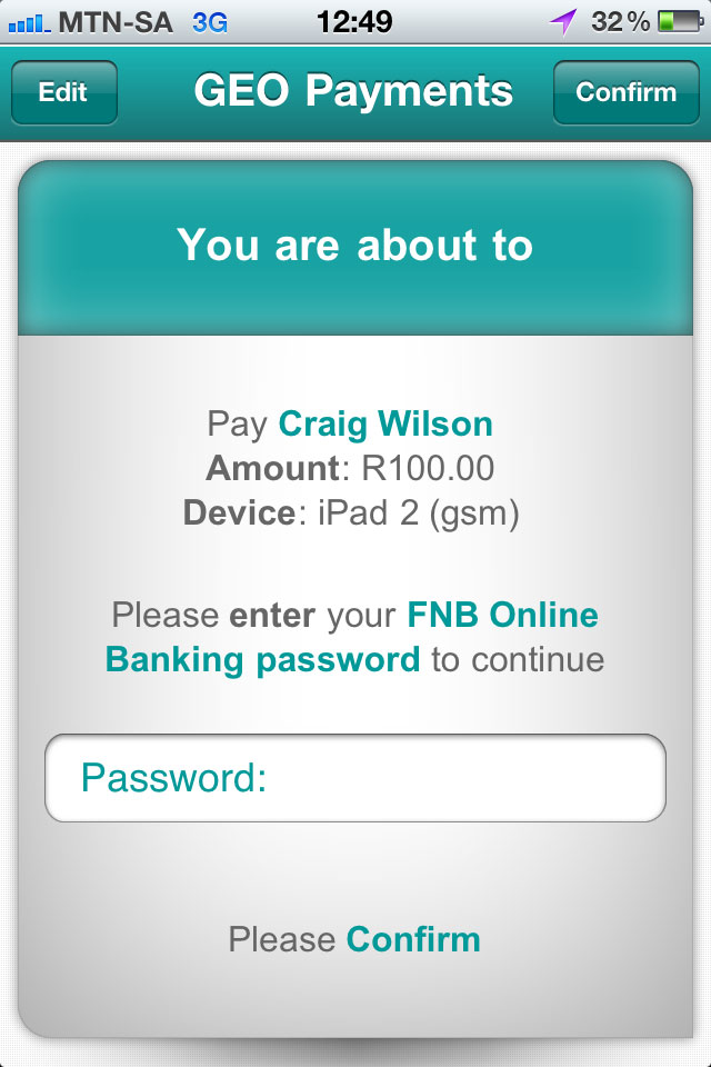 FNB launches geo-based mobile payments - TechCentral