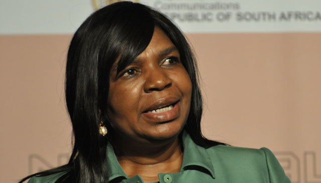 Communications minister Dina Pule