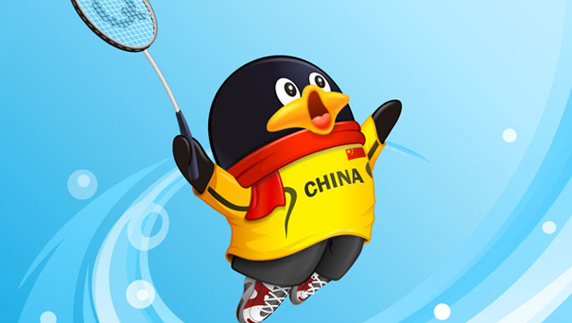 The mascot of Tencent's QQ instant-messaging service, which notched up 173 concurrent active users in the past year