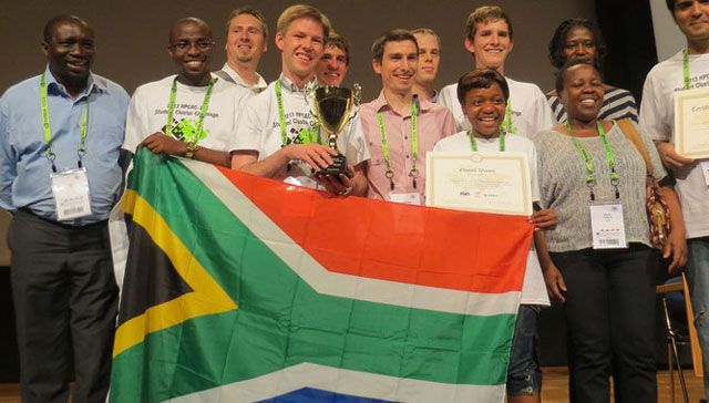 """Team South Africa """"made jaws drop at the international Student Cluster Challenge in Germany when the first-time entrant trumped all the other teams. Image: Mail & Guardian"""