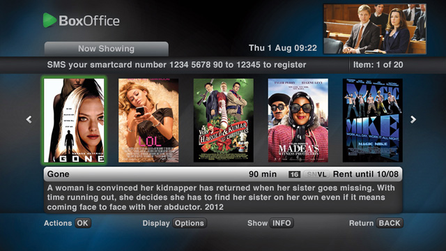 The BoxOffice interface has also been overhauled