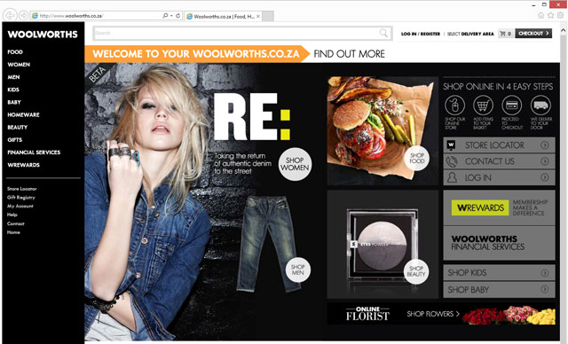 The redesigned Woolworths e-commerce site