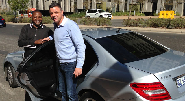 Retired footballer Mark Fish was Uber's first customer in Johannesburg