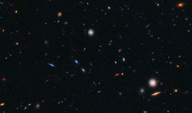 The Hubble telescope pinpoints the furthest protocluster of galaxies ever seen. Image: Nasa Goddard Photo and Video (CC BY 2.0)