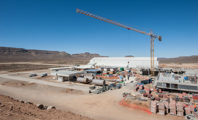 Construction on the SKA Karoo site (image: SKA South Africa)