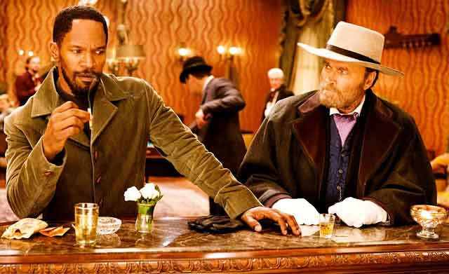 Django, meet Django: Jamie Foxx with the original Django Franco Nero