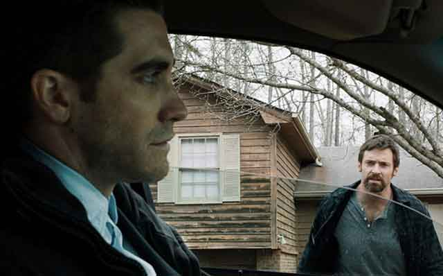 Jake Gyllenhaal and Hugh Jackman on opposite ends of the law in Prisoners