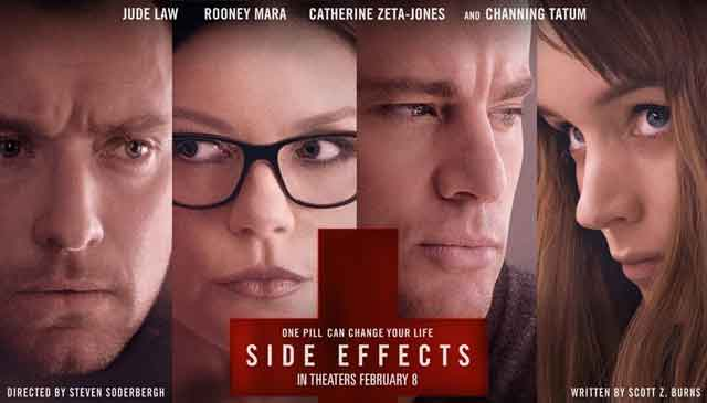 The twisty Side Effects is a smart and entertaining thriller about greed and pharmaceuticals