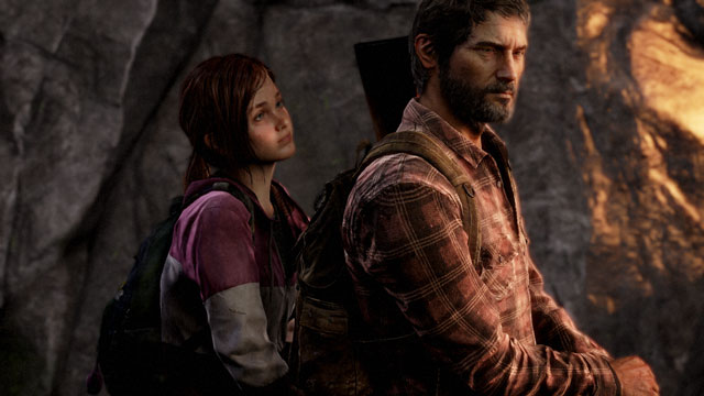 Grizzled Joel and streetwise Ellie in The Last of Us