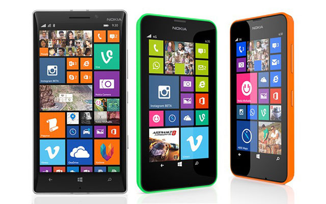 The new Lumia 930, 635 and 630