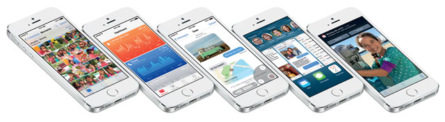 iOS 8 on the iPhone 5s
