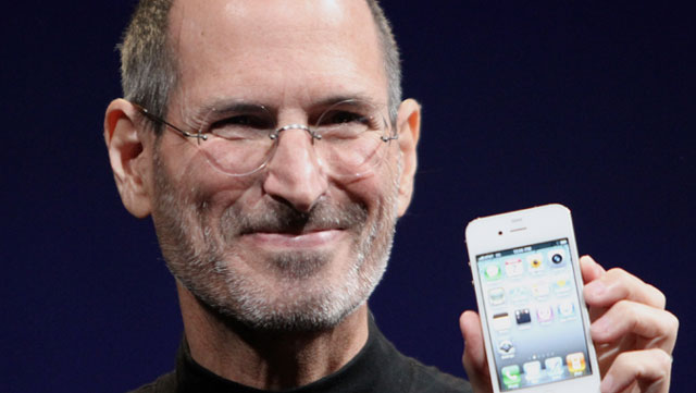 Steve Jobs shows off the original iPhone