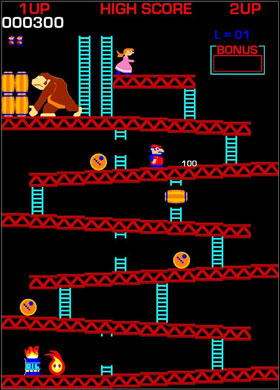 The classic Donkey Kong