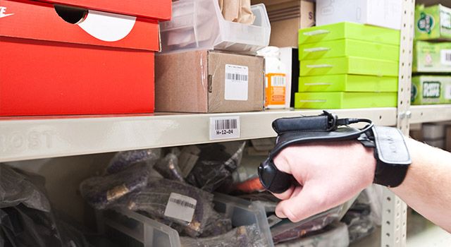 The ParcelNinja warehouse is paperless and uses Bluetooth scanners with iPod touch devices to track and ship packages