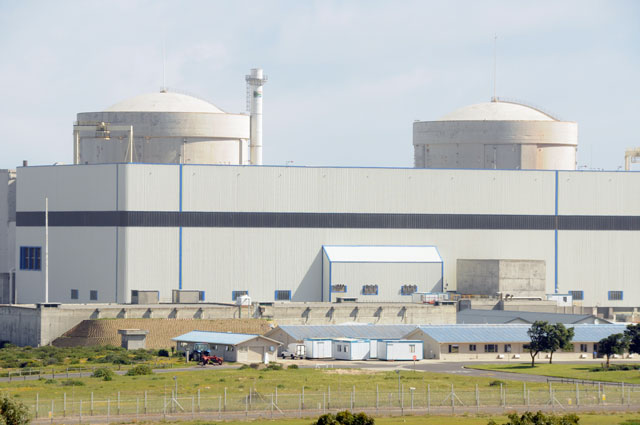Koeberg, north of Cape Town, is currently South Africa's only nuclear power station