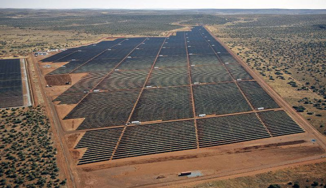 The 96MW Jaspar solar farm in the Northern Cape