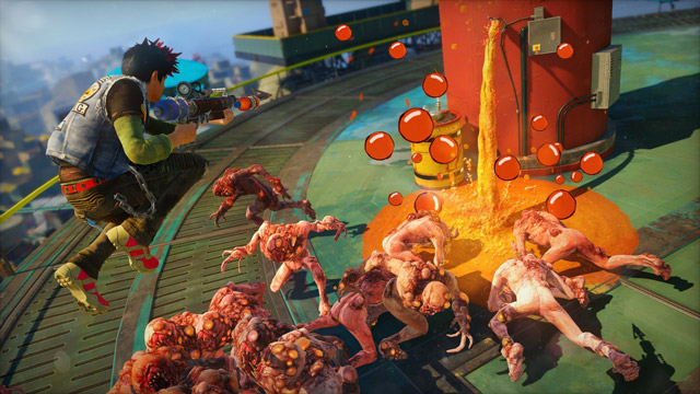 Boom and splat … cheerful chaos in Sunset Overdrive