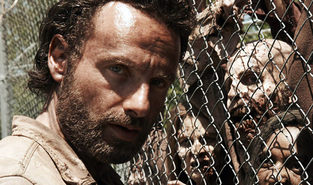 Andrew Lincoln plays small-town sheriff Rick Grimes in The Walking Dead