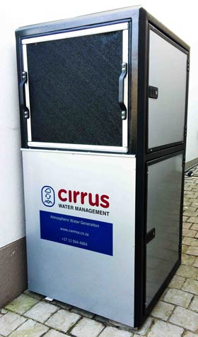 This Cirrus Water AWG machine produces 100 litres of water day