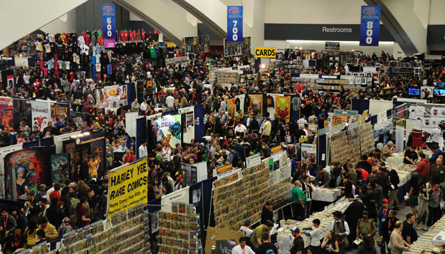 Throngs pack the floor at a WonderCon comic book, sci-fi and movie convention