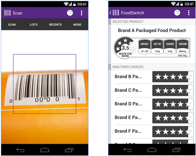 App checks what 39 s healthy in sa stores techcentral for Barcode food