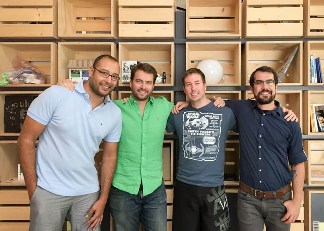 Asimmetric's founding team, from left to right: Fouad Zreik, David Wilson, Ross Douglas and Michael Champanis