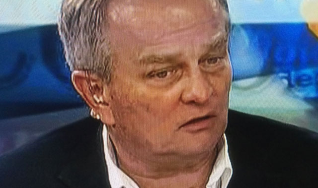 Mark Barnes, pictured on a recent television talk show