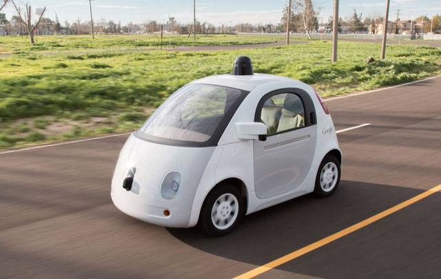 A self-driving car prototype made by Google
