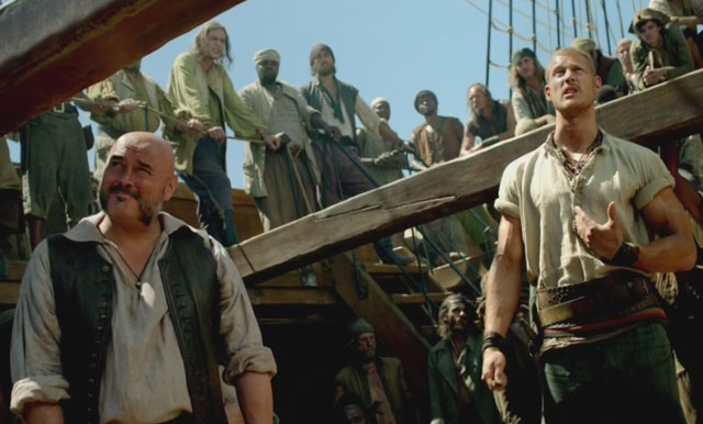 A scene from the TV series Black Sails