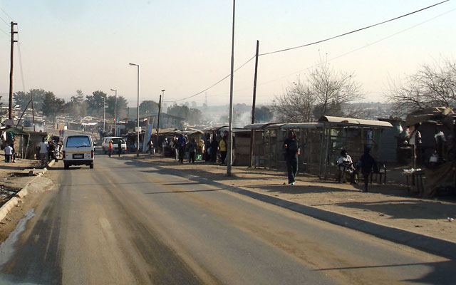 A section of Diepsloot, north of Johannesburg