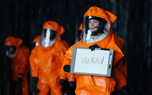 Found in translation? Amy Adams tries to communicate with extra-terrestrials in Arrival