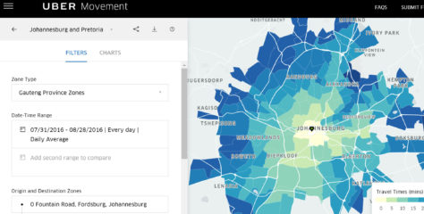 Uber Movement traffic data website launched in SA
