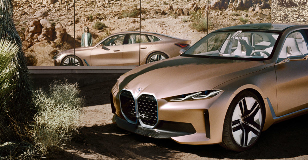 in pictures  bmw unveils flagship i4 electric car