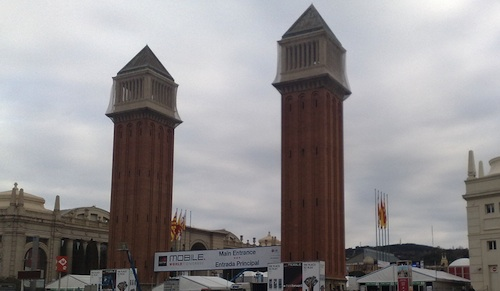 The entrance to Mobile World Congress in Barcelona