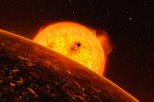 The exoplanet Corot-7b is so close to its Sun-like host star that it must experience extreme conditions